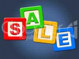 Sale Kids Blocks Indicates Youths Youngsters And Youth