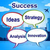 Success Words Means Triumphant Innovation And Winner