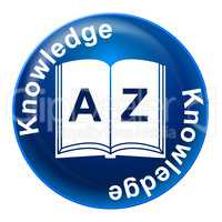 Knowledge Badge Means Educate Proficiency And Educating