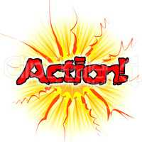 Action Sign Means Do It And Acting