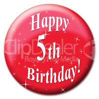 Happy Fifth Birthday Shows Party Congratulations And Celebrate