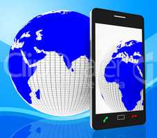 World Phone Represents Web Site And Cellphone