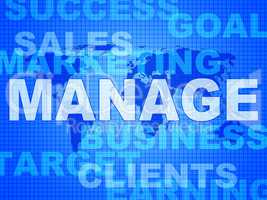 Manage Words Represents Directorate Head And Managing