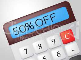 Fifty Percent Off Represents Promo Promotion And Sales