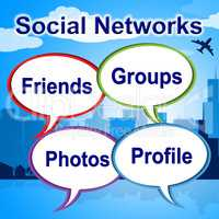 Social Networks Words Shows Blogging Blogs And Internet