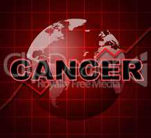 Cancer Graph Indicates Cancerous Growth And Diagram
