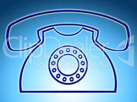 Telephone Call Indicates Answers Discussion And Chat