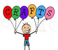 Crafts Balloons Indicates Bunch Male And Designing