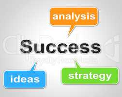Success Words Indicates Succeed Resolution And Victors