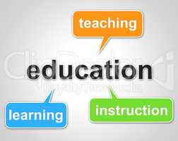 Education Words Represents Learning Tutoring And Schooling