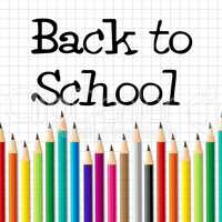 Back To School Indicates Youth Youngsters And Learned