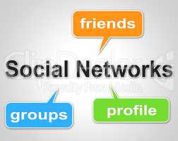 Social Network Words Means Web Forums And Blogging