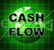 Cash Flow Graph Represents Investment Earn And Wage