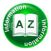 Information Badge Indicates Know How And Advisor
