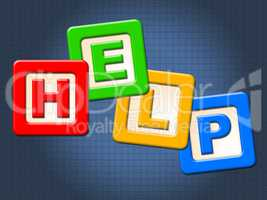 Help Kids Blocks Shows Information Youngsters And Question