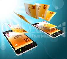 Euros Transfer Means Finance Cash And Money