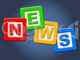 News Kids Blocks Indicates Social Media And Article