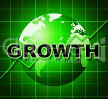 Growth Graph Means Financial Expansion And Forecast