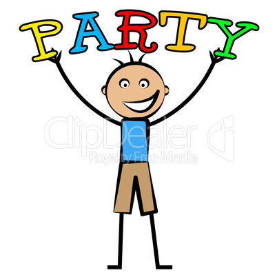 Kids Party Shows Celebrations Cheerful And Youngsters