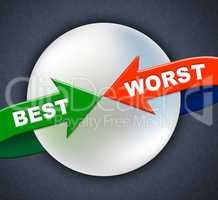 Best Worst Arrows Indicates Number One And Inferior