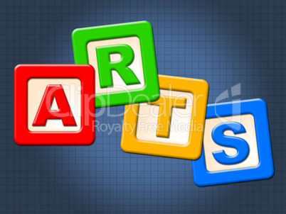 Arts Kids Blocks Indicates Draw Youths And Artwork