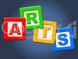 Arts Kids Blocks Indicates Draw Youths And Artwork