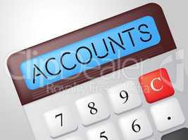 Accounts Calculator Indicates Balancing The Books And Accounting