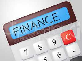 Finance Calculator Shows Business Trading And Calculate