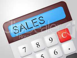 Sales Calculator Indicates Market Calculate And Marketing