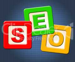 Seo Kids Blocks Shows Optimization Youngsters And Childhood