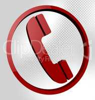 Telephone Call Means Support Conversation And Debate