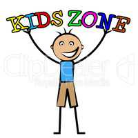 Kids Zone Shows Free Time And Child
