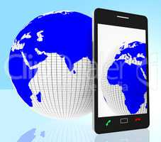 World Phone Indicates Web Site And Cellphone