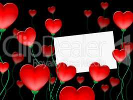 Heart Message Indicates Valentine Day And Communicate