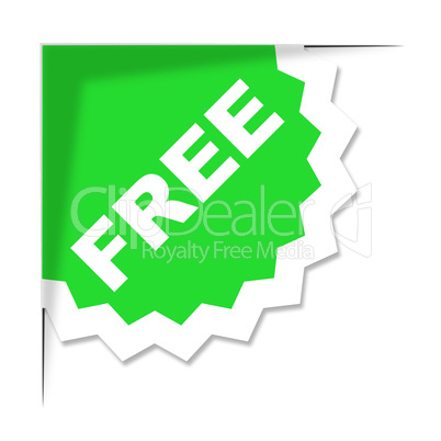 Free Label Means With Our Compliments And Freebie