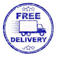 Free Delivery Stamp Represents With Our Compliments And Complimentary