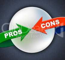 Pros Cons Arrows Shows All Right And Ok