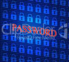 Password Security Shows Sign In And Access