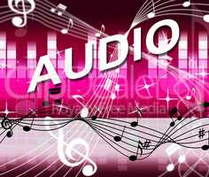 Audio Music Shows Bass Clef And Melody