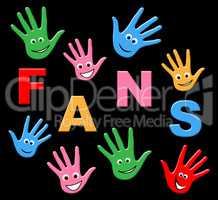 Fans Kids Represents Social Media And Web