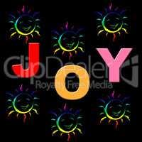 Joy Kids Shows Fun Childhood And Positive