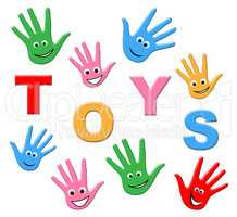 Kids Toys Means Toddlers Youth And Childhood