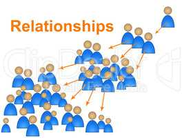 Relationships Network Represents Social Media Marketing And Community