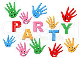 Handprints Party Represents Childhood Celebrations And Celebrate