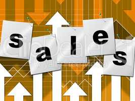 Selling Sales Shows Business Graph And Market
