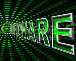 Software Technology Means Digital Shareware And Programming