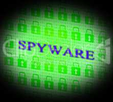 Hacked Spyware Means Unauthorized Crack And Attack