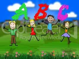 Abc Education Means Kids Alphabet And Alphabetical