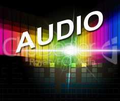 Audio Music Represents Treble Clef And Crotchets