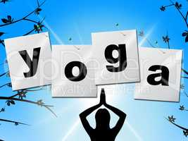 Yoga Pose Represents Posture Balance And Enlightenment